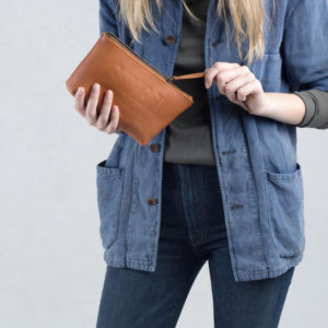 feed projects leather pouch
