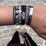 My Saint My hero Stacked bracelets