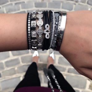 My Saint My hero Stacked bracelets