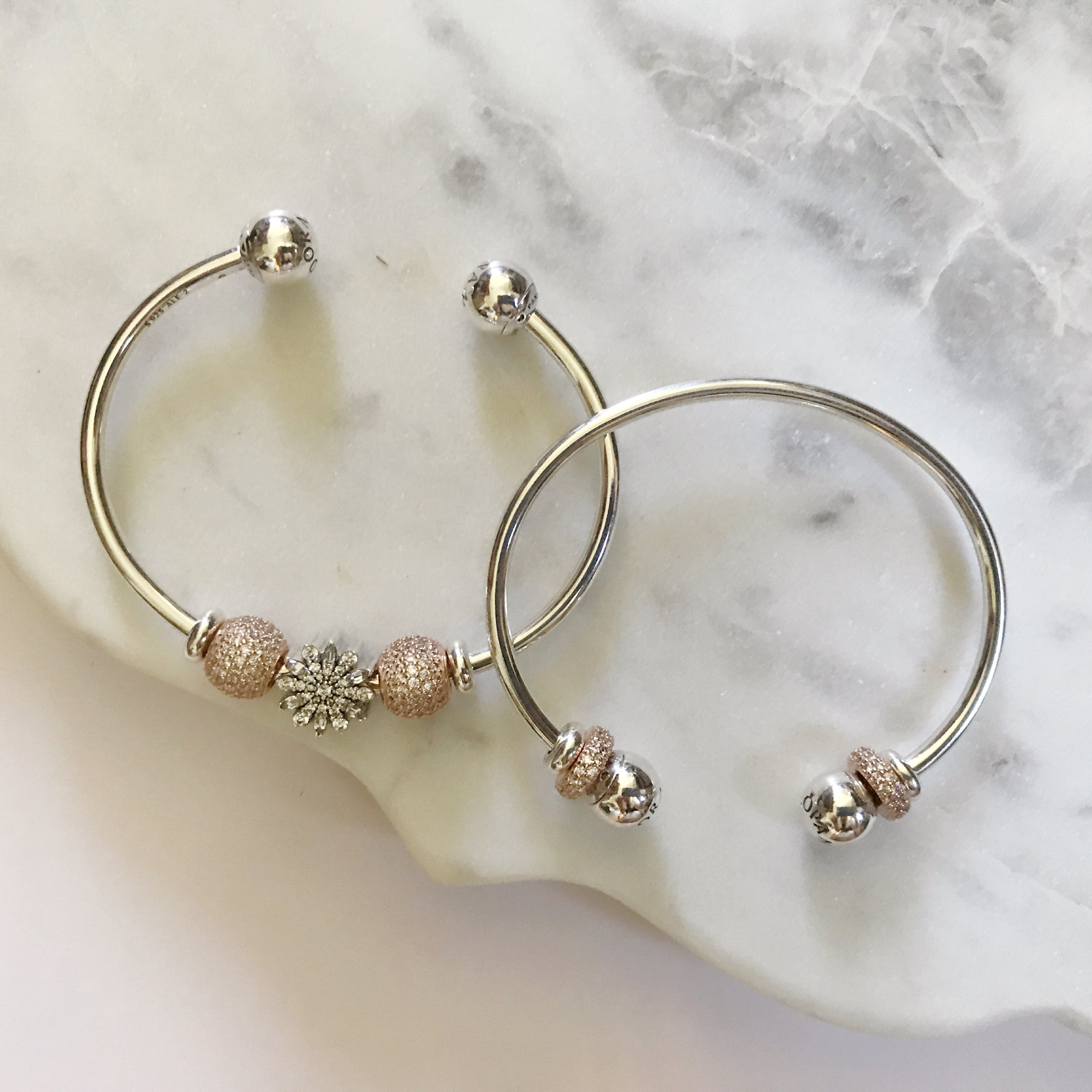 bangle the mixing charm at introducing bangles by versant bracelets pandora with bethlehem open new rose touch in we index arrival a love of silver bright