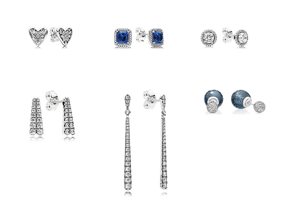 In Keeping With The Overall Celestial Theme New Pandora Holiday Earring Arrivals Have A Lot Of Clear Sparkle Added Accents Blue Shooting