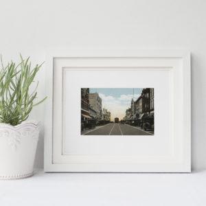 Main Street Bethlehem Framed
