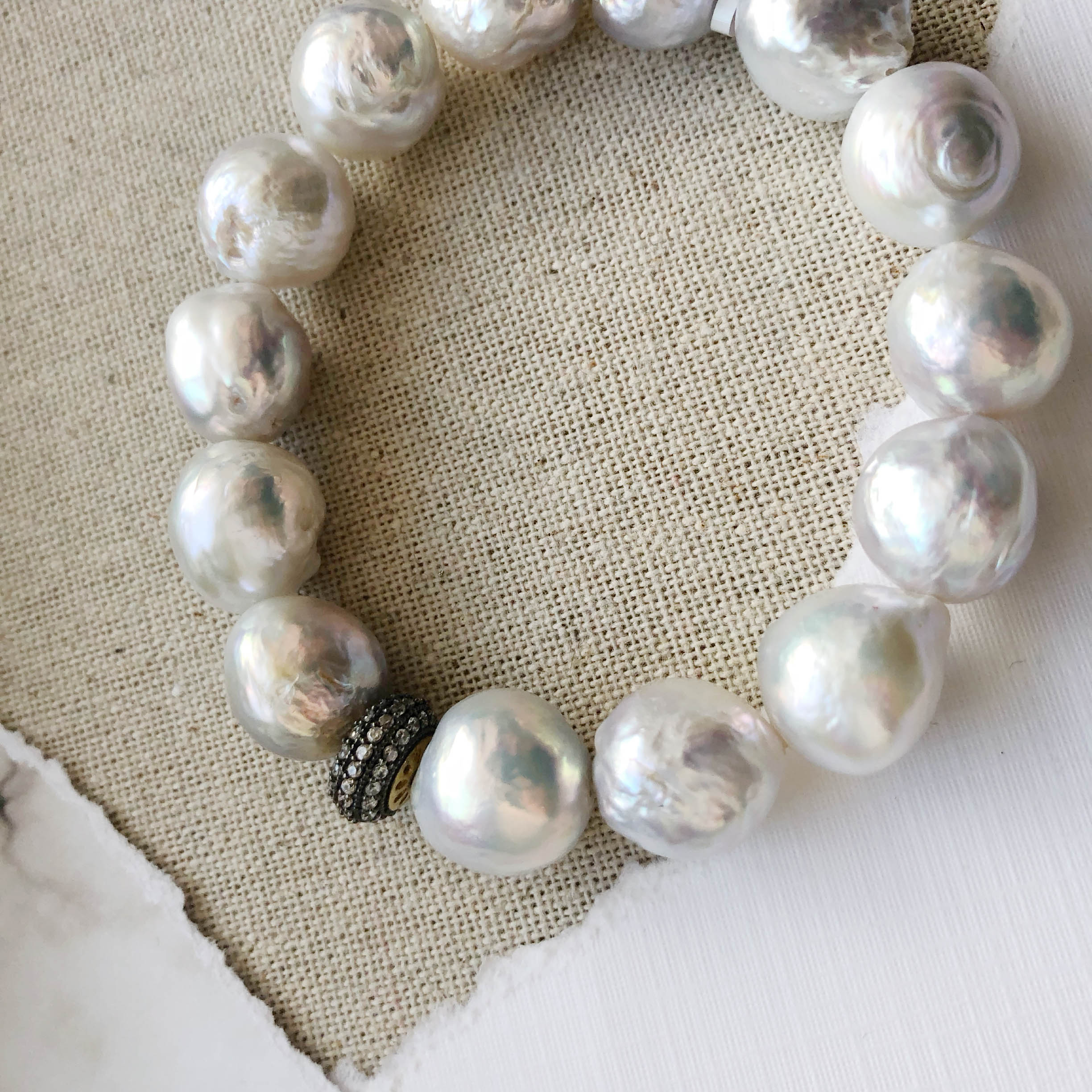 and pearl ringed necklace sterling silv with baroque clasp honora silver quartz itm pearls freshwater aqua