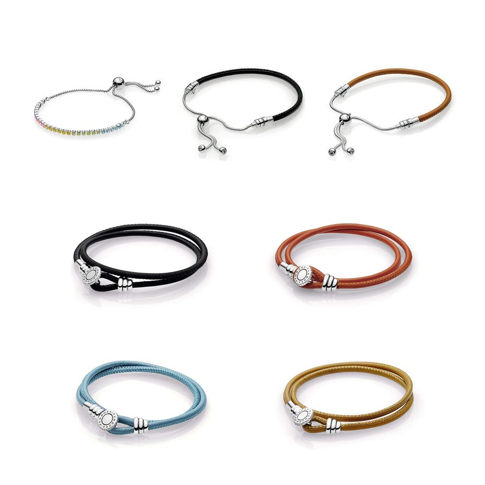 5fbb2b340 The Pandora Summer collection has added some versatile new bracelet styles  in their leather collection. Breaking away from the traditional braided  leather ...