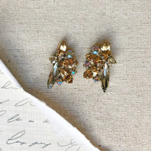 sorrelli fanned navette crystal post earrings