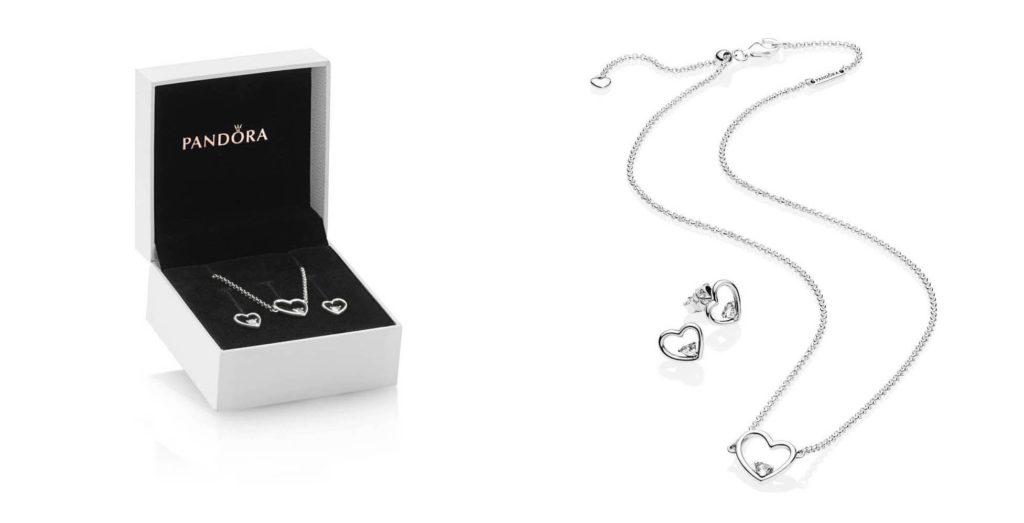 shape of love jewelry set