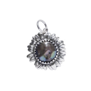 Waxing Poetic Retired Moon Daisy Dark Mother of Pearl Charm