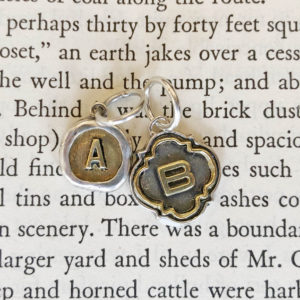 Waxing Poetic Retired Petite Poetic and Quatrefoil Insignia Initials