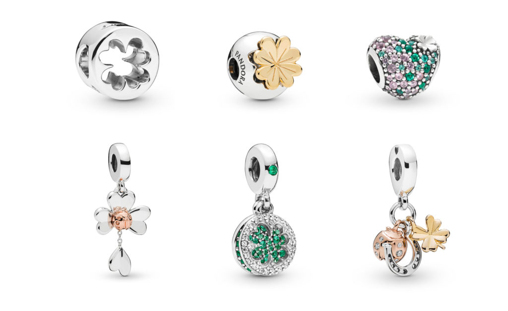 c92829f5b Included in the Clover-themed collection are the Clover Cut-Out charm  ($35), Shining Clover Clip in Pandora Shine ($50), Gleaming Clover Heart  Charm ($70), ...