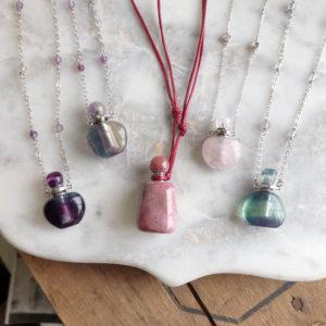 "Gemstone ""Scentainer"" Necklaces"